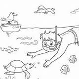 Snorkeling Coloring Fun Pages Surfnetkids sketch template