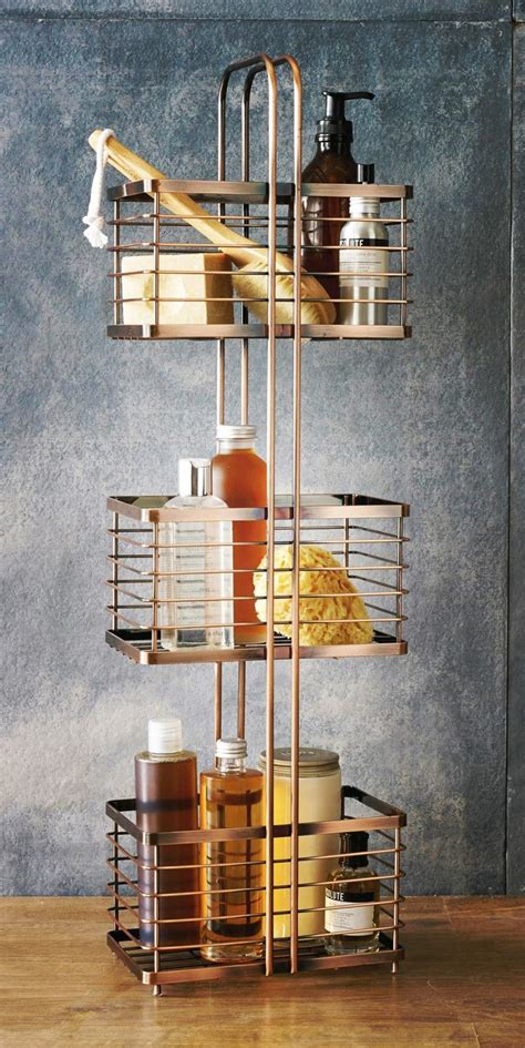 bathrooms decor ideas rented home bathroom storage solutions copper storage