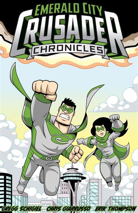 emerald con comic webcomic mascot crusader seattle twice weekly superhero