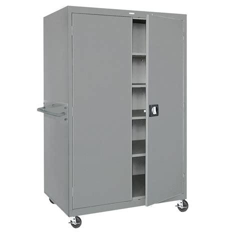 Lockable Storage Cabinets by Locking Storage Cabinet In Light Grey Powder Coat Steel 46