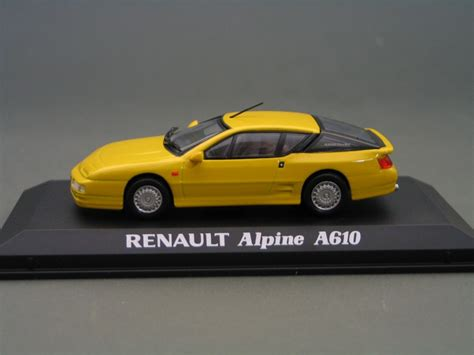 renault alpine a610 renault alpine a610 yellow die cast model norev 517830