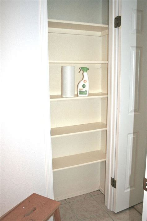 wood how to build a linen closet shelves pdf plans