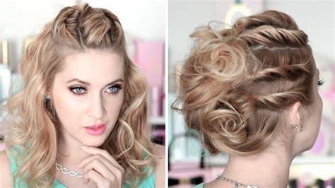 coiffure mariage facile tuto coiffure de soirée mariage chignon cheveux mi longs facile à faire soi même