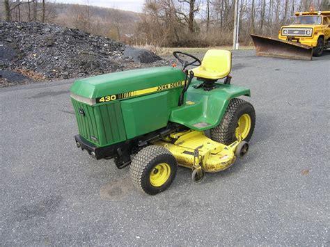 deere garden tractor deere 430 lawn garden tractor 20 hp for auction