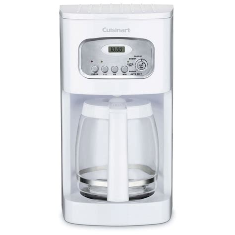 Cuisinart DCC 1100 12 Cup Programmable Coffee Maker   White   Coffee Makers at Hayneedle