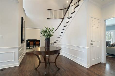 gorgeous foyers  wainscoting