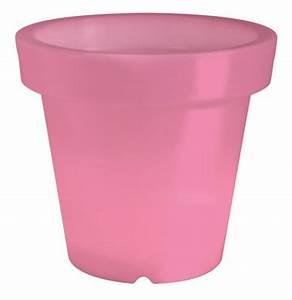 Pot Fleur Lumineux : pot de fleurs lumineux bloom h 40 cm rose bloom ~ Nature-et-papiers.com Idées de Décoration