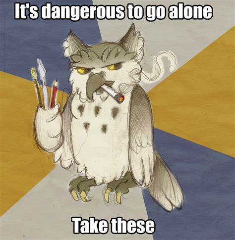 Art School Owl Meme - kalo loves art student owl by mermaid kalo on deviantart