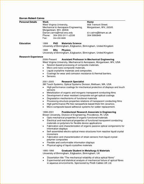 mechanical enginer qualifications resume 9 aeronautical engineer resume exle free sles