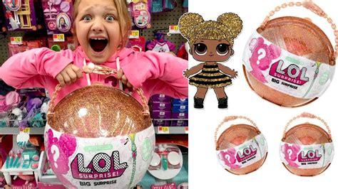 toy shopping  walmart  lol surprise big surprise ball