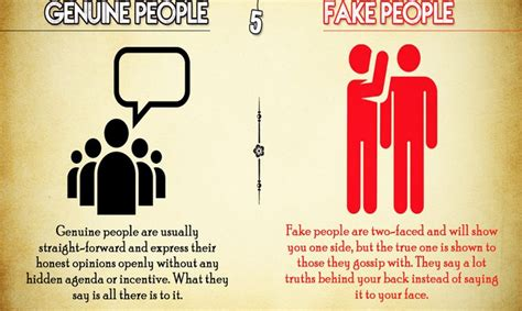 differences  genuine  fake people evolve