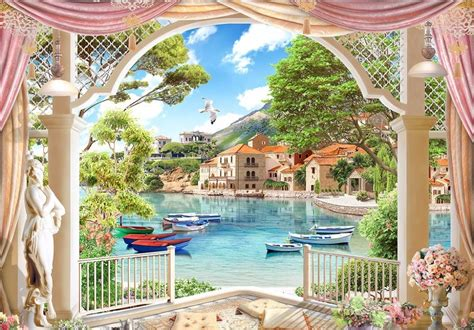 Modern Wallpaper Customized 3d Wall Murals Roman Garden