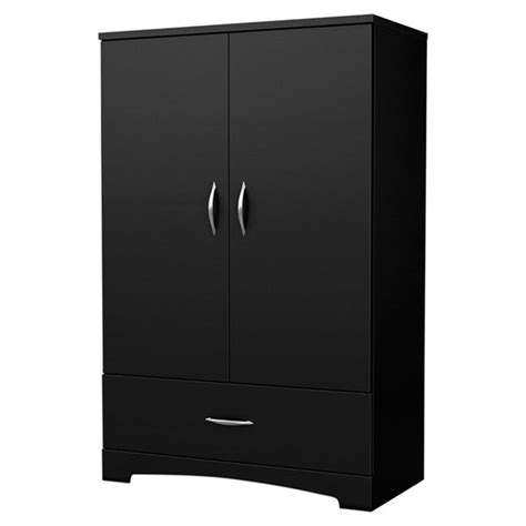 Buy Black Wardrobe by Armoire Wardrobe Storage Black Closet Bedroom Furniture