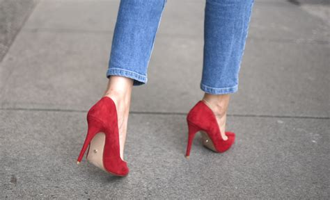 Shot From The Street Ladies Suede High Heel Court Shoes