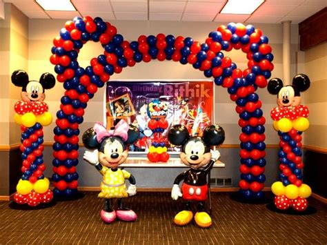 Mickey And Minnie Decorations - mickey and minnie baby shower theme indian birthday