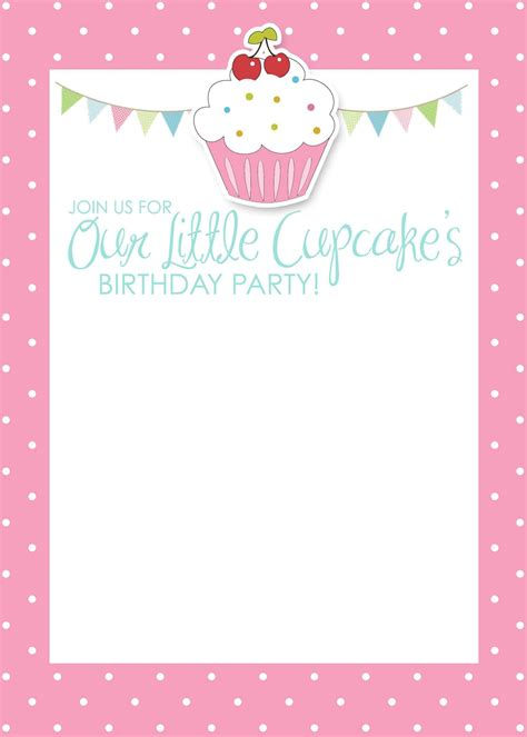 Card Template Birthday Invitation Card Template Birthday Invitation