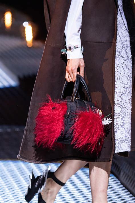 prada fallwinter  runway bag collection spotted fashion
