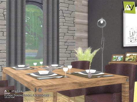 Dining Room Accessories by Flynn Dining Room Accessories By Artvitalex At Tsr 187 Sims