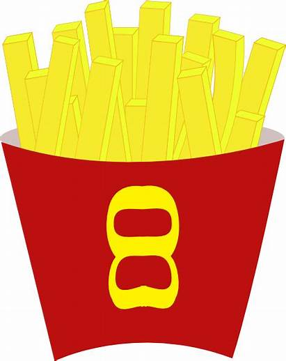 Clip Fries French Chips Clipart Vector Clker