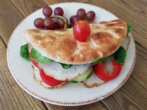 Mediterranean Turkey Pita with Herb Cream Cheese - Hearty ...