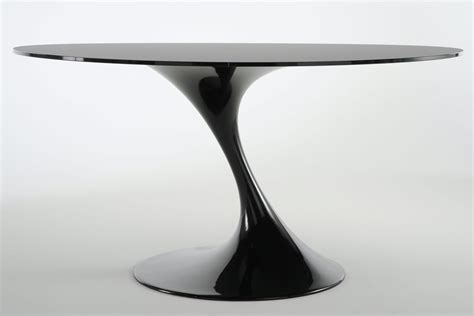 table ronde de cuisine atatlas table ronde en verre noir monbureaudesign fr