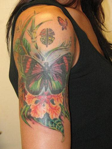 butterfly  sleeve tattoo