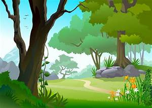 free forest landscape trees, Vector - 365PSD.com
