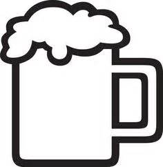 beer mug pattern use the printable outline for crafts With letter stencils for mugs