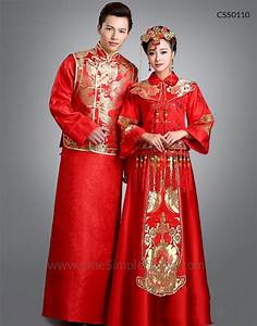 Traditional Chinese Wedding Dress and Groom Wear Set ...