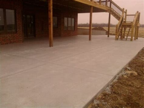 large patio opp concrete wichita commercial and