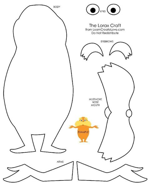 lorax mustache template 17 best images about dr suess on dr suess the lorax and dr seuss