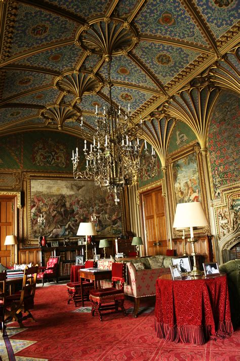 paper  gothic drawing room  eastnor castle