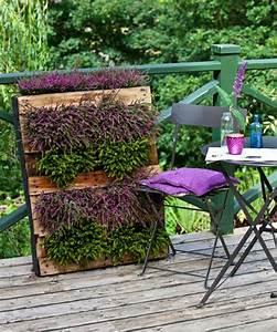 wandbegrunung aus paletten coole diy projekte fur ihr With französischer balkon mit hängende gärten für zuhause