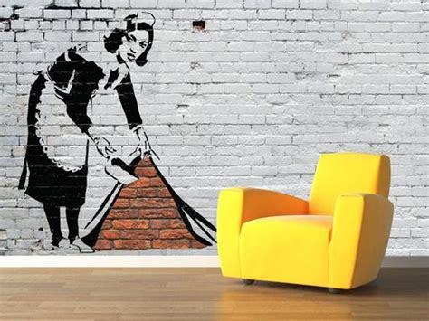 put  bansky   wall quirky wallpapers   pad