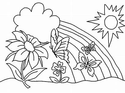 Coloring Easy Adults Pages Nature Scene