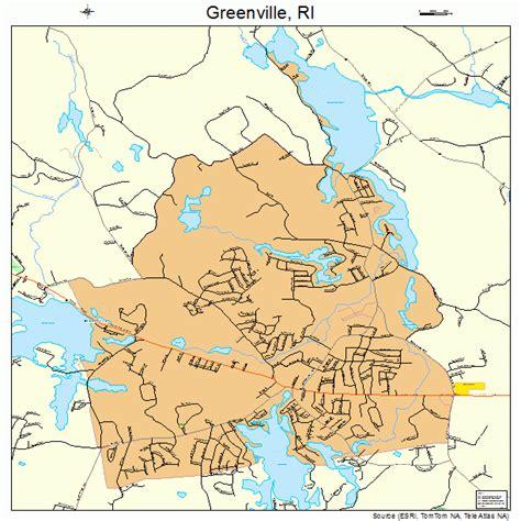 greenville rhode island street map