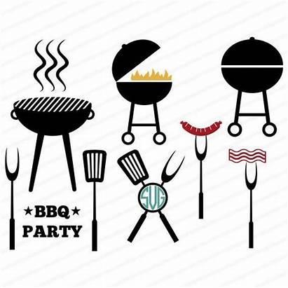 Svg Barbecue Dxf Stencil Clip Bbq Grill