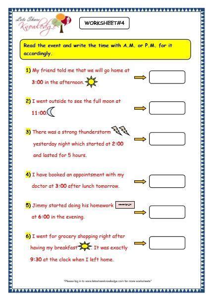 time worksheet math grade  schematic  wiring diagram