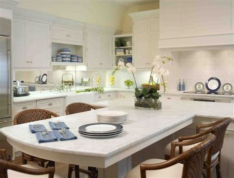 t shaped island kitchen beautiful islands and white counters on 5966