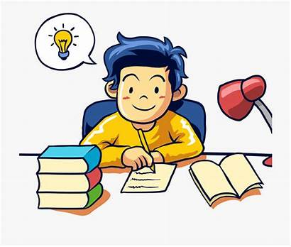 Writing Clipart Student Clip Learning Author Cartoon