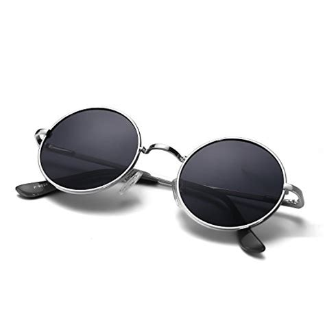 Round Black Sunglasses: Amazon.com