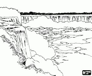 waterfalls  spectacle coloring page coloring pages