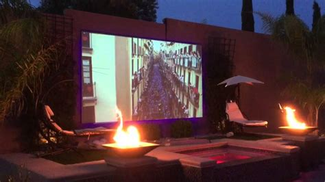 backyard projector screen project youtube