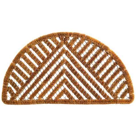 semi circle doormat semi circle triangle coir welcome mat by imports decor in