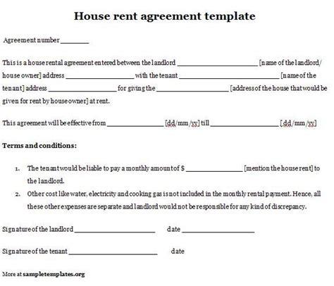 tenancy agreement templates  word format rental