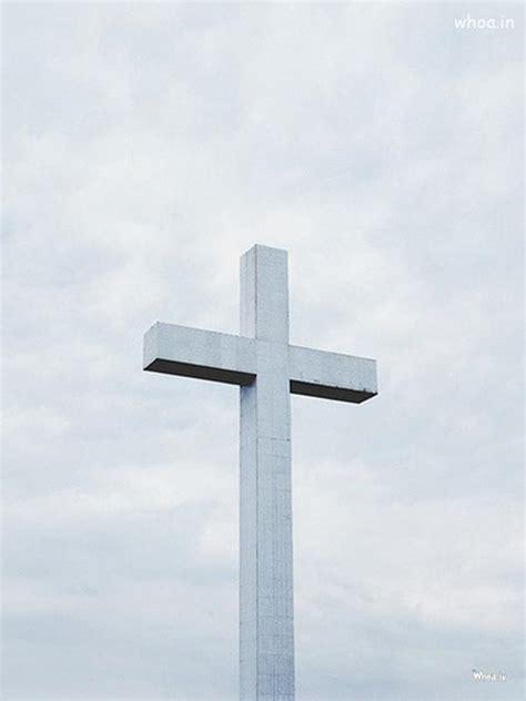 cristian cross  white wallpaper