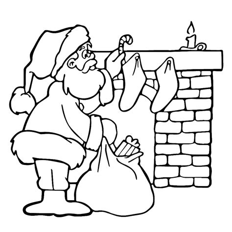 Kerst Kleurplaat by Leuk Voor De Kerstman Bij De Schoorsteen