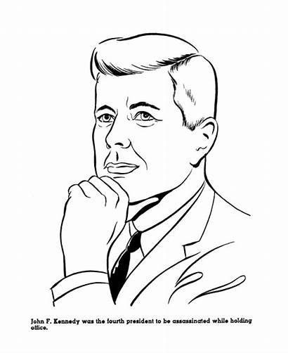 Presidents Coloring Kennedy Pages John Sheets American