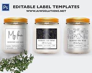 candle labels etsy With candle jar labels