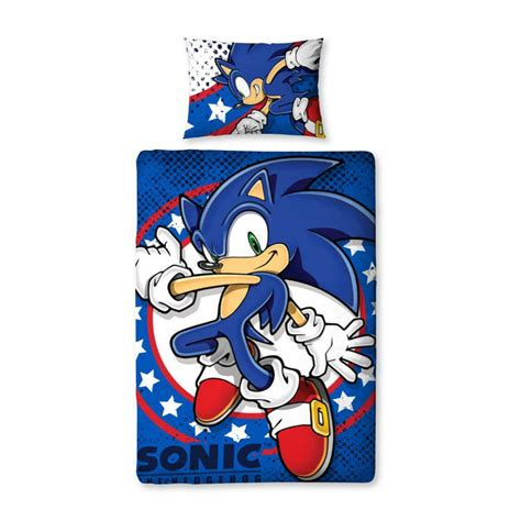 childrens sonic the hedgehog single duvet set